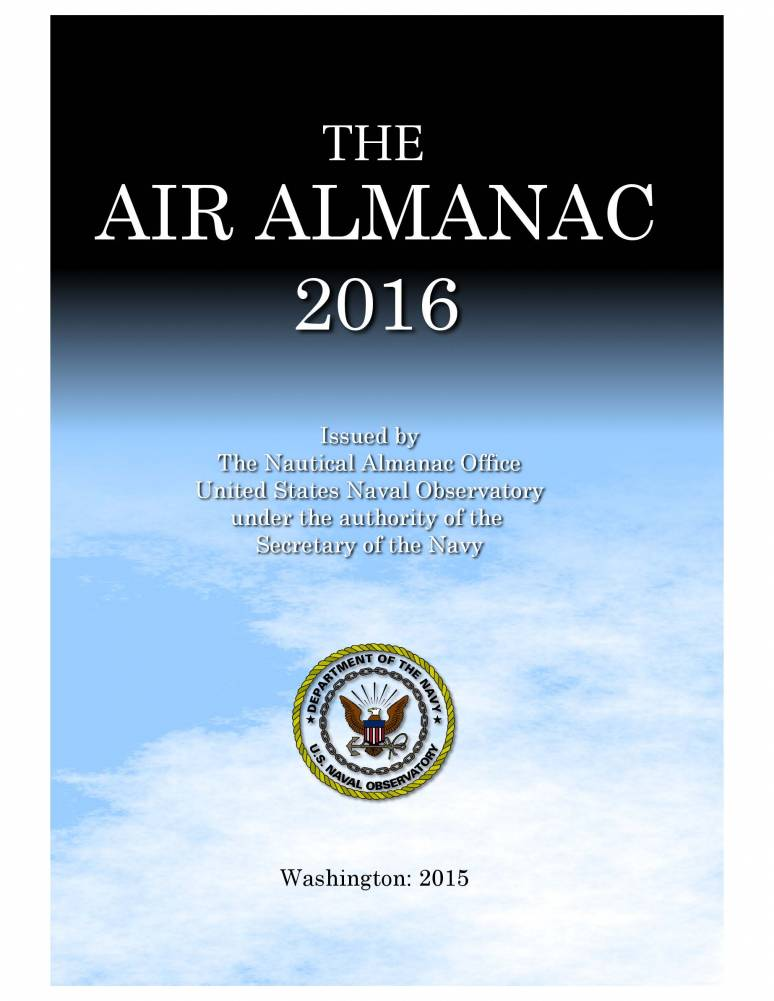 The Air Almanac for the Year 2016