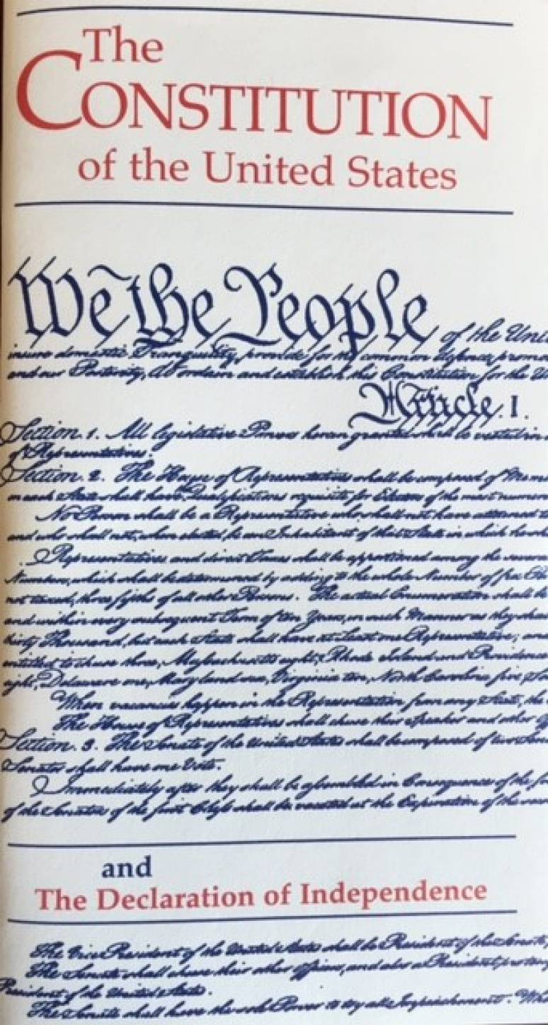 Declaration of Independence and The Constitution of The United States Pocket sz