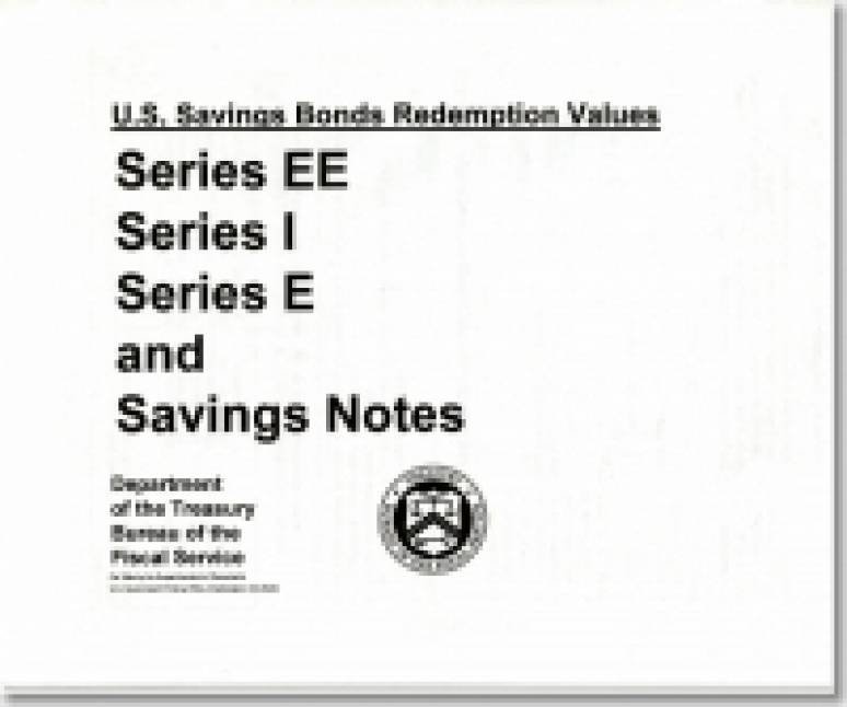 United States Savings Bond Redemption Values: Series EE, Series I, Series E, and Savings Notes
