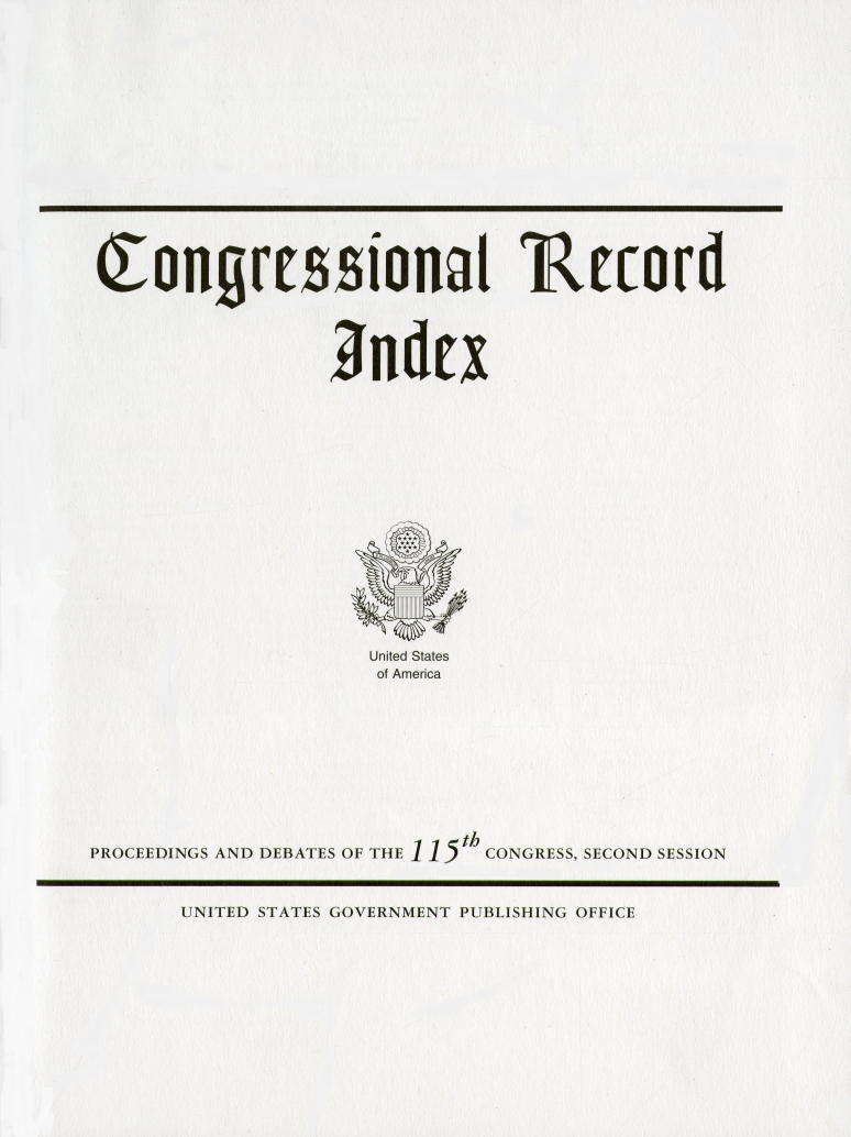 Index May 11-june 4, #88-104; Congressional Record