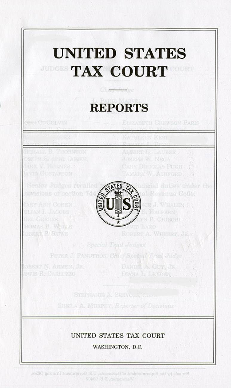 United States Tax Court Reports