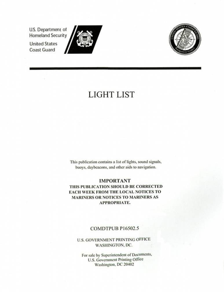 Light List, 2009, V. 6, Pacific Coast and Pacific Islands
