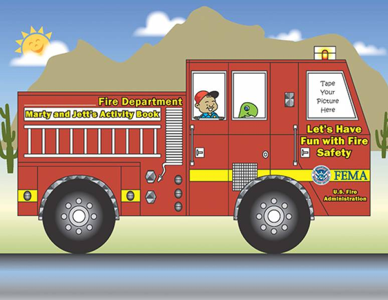 Marty and Jett's Activity Book: Let's Have Fun with Fire Safety