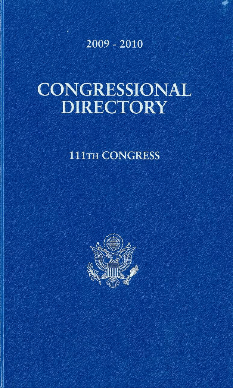 Official Congressional Directory, 2009-2010, 111th Congress (Hardcover)