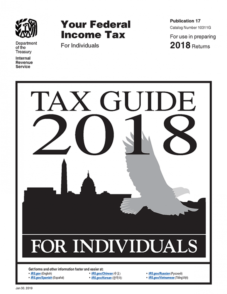 Your Federal Income Tax for Individuals 2018 Tax Guide 2018 (IRS Publication 17)