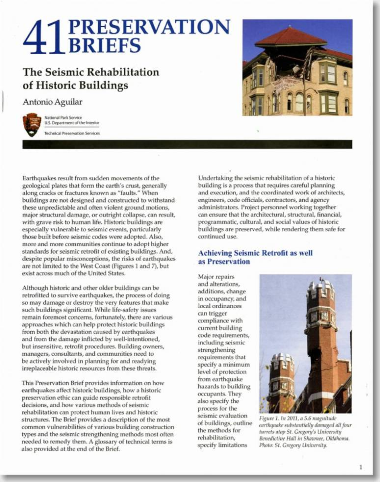 The Seismic Rehabilitation of Historic Buildings