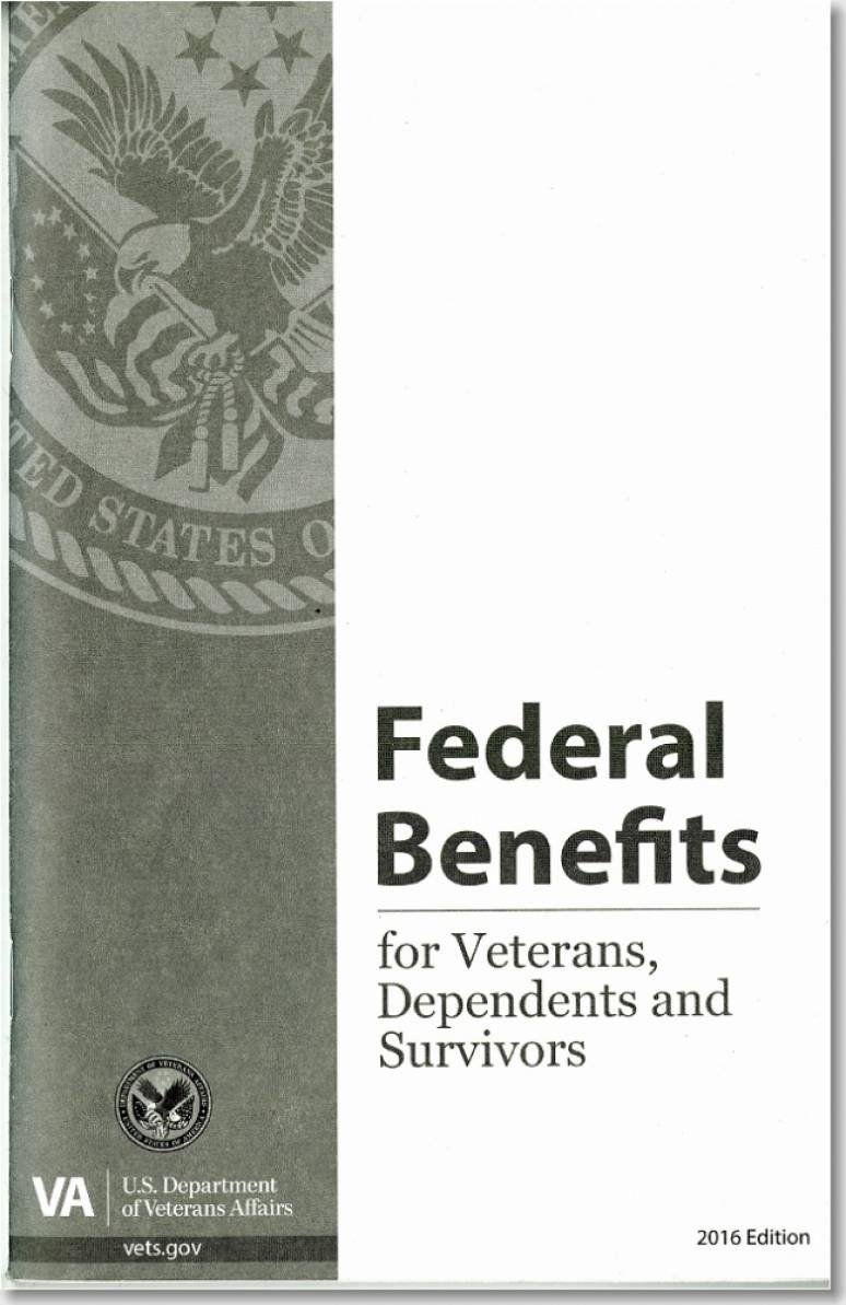 Federal Benefits for Veterans, Dependents and Survivors 2016